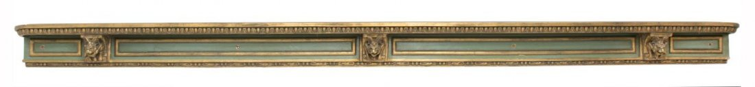 SPAIN PARCEL GILT PAINTED WINGED GRIFFIN CORNICE