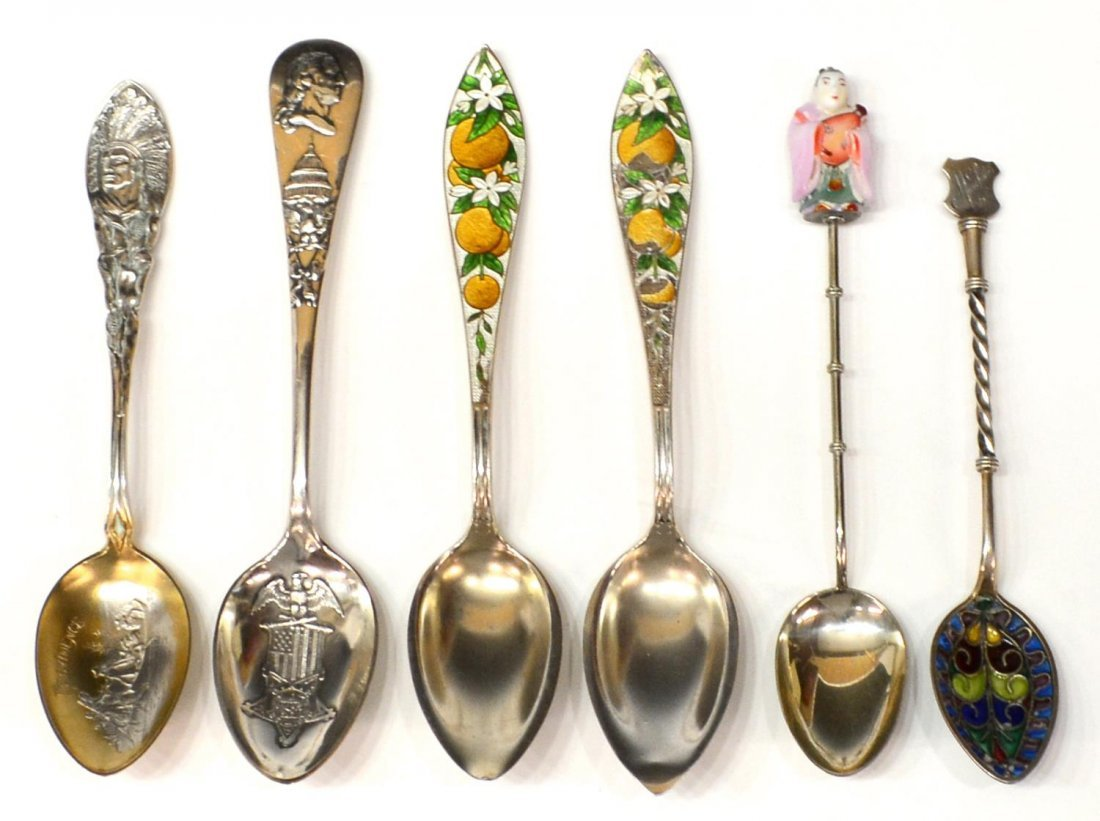 GEORG SCHEID PLIQUE A JOUR & OTHER SILVER SPOONS