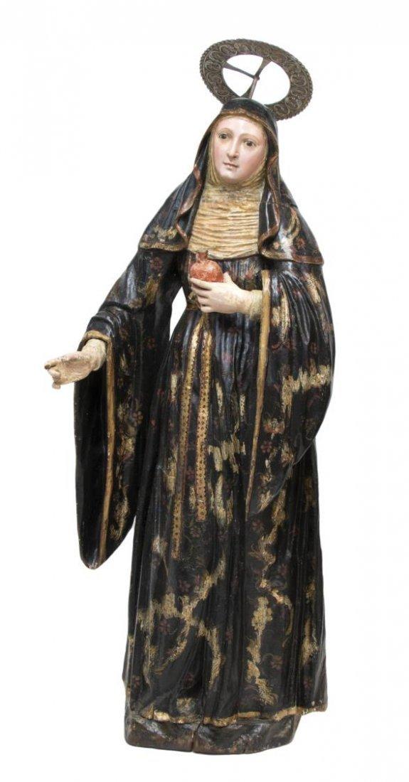 RELIGIOUS STATUE, SAINT MARY MARGARET ALACOQUE