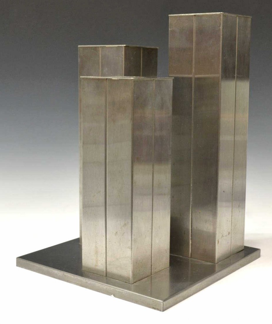 MID-CENTURY MODERN CHROMED STEEL UMBRELLA STAND