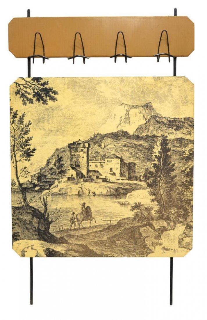 ITALIAN MID-CENTURY MODERN WALL MOUNT HALLTREE