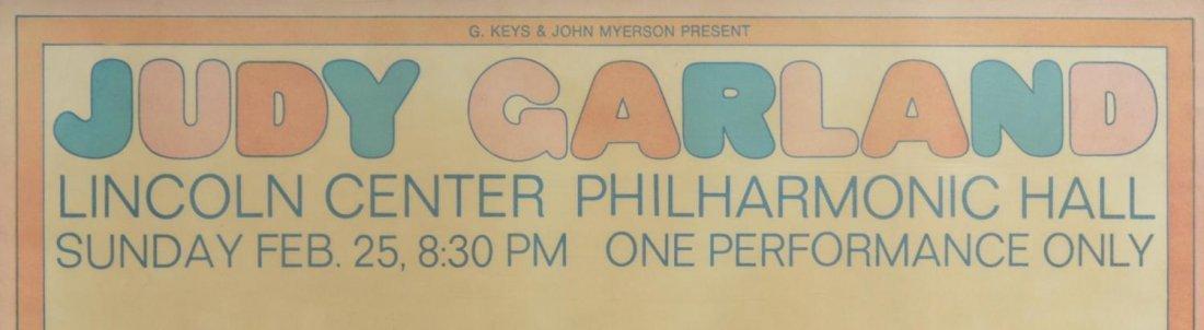 POSTER, JUDY GARLAND AT LINCOLN CENTER, 1968 - 2