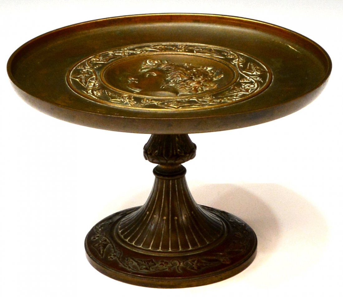 FRENCH PATINATED BRONZE CLASSICAL STYLE TAZZA