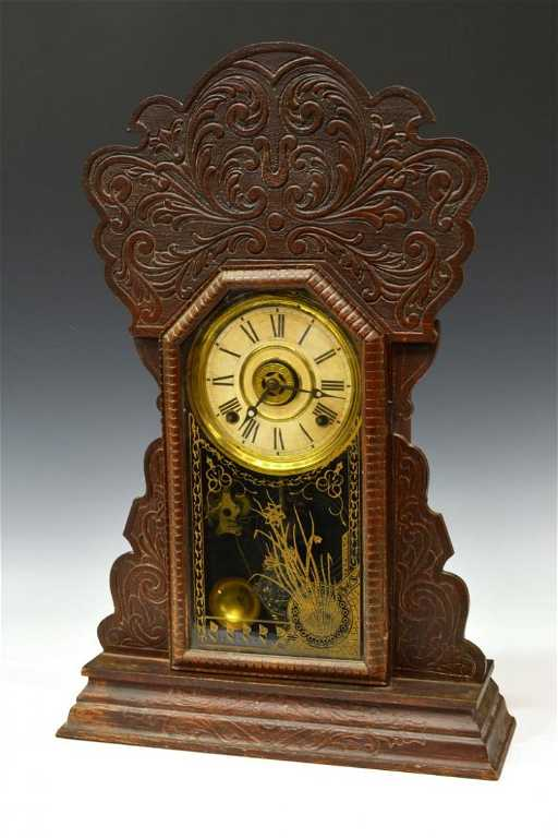 Antique Sessions Gingerbread Mantle Clock
