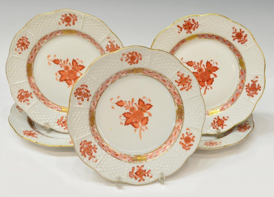 (8) HEREND CHINESE BOUQUET PORCELAIN DINNERWARE - 2