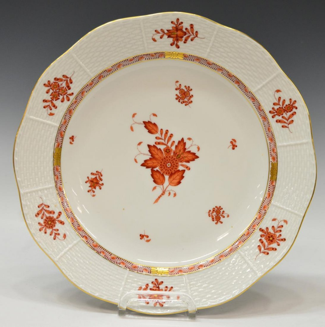 (8) HEREND CHINESE BOUQUET PORCELAIN DINNERWARE - 3