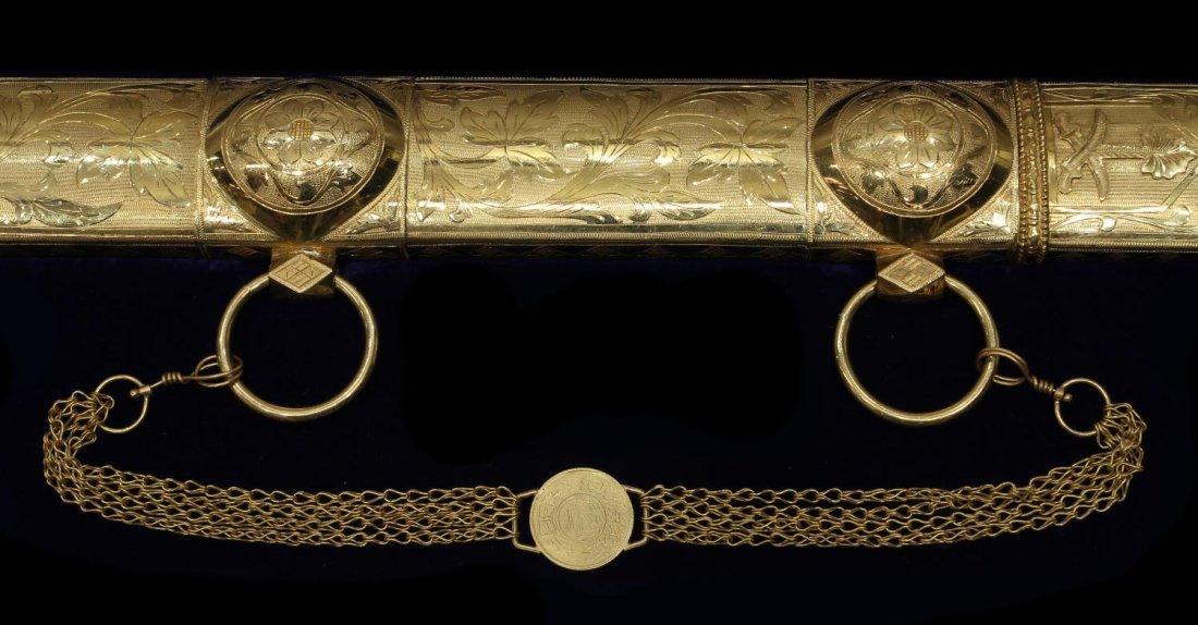 GOLD PRESENTATION SWORD, TEXAS, DARRELL ROYAL - 5