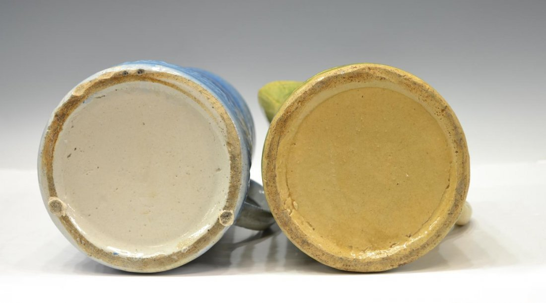 (6) ANTIQUE SALT GLAZE POTTERY TABLEWARE GROUP - 7