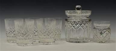 (7) WATERFORD & GALWAY CRYSTAL DRINK & TABLEWARE