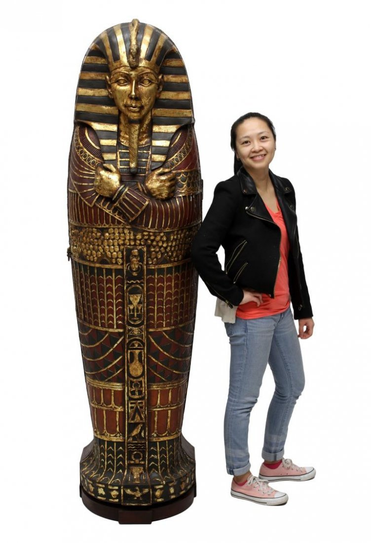 "KING TUT EGYPTIAN SARCOPHAGUS CABINET, 75""H - 2"