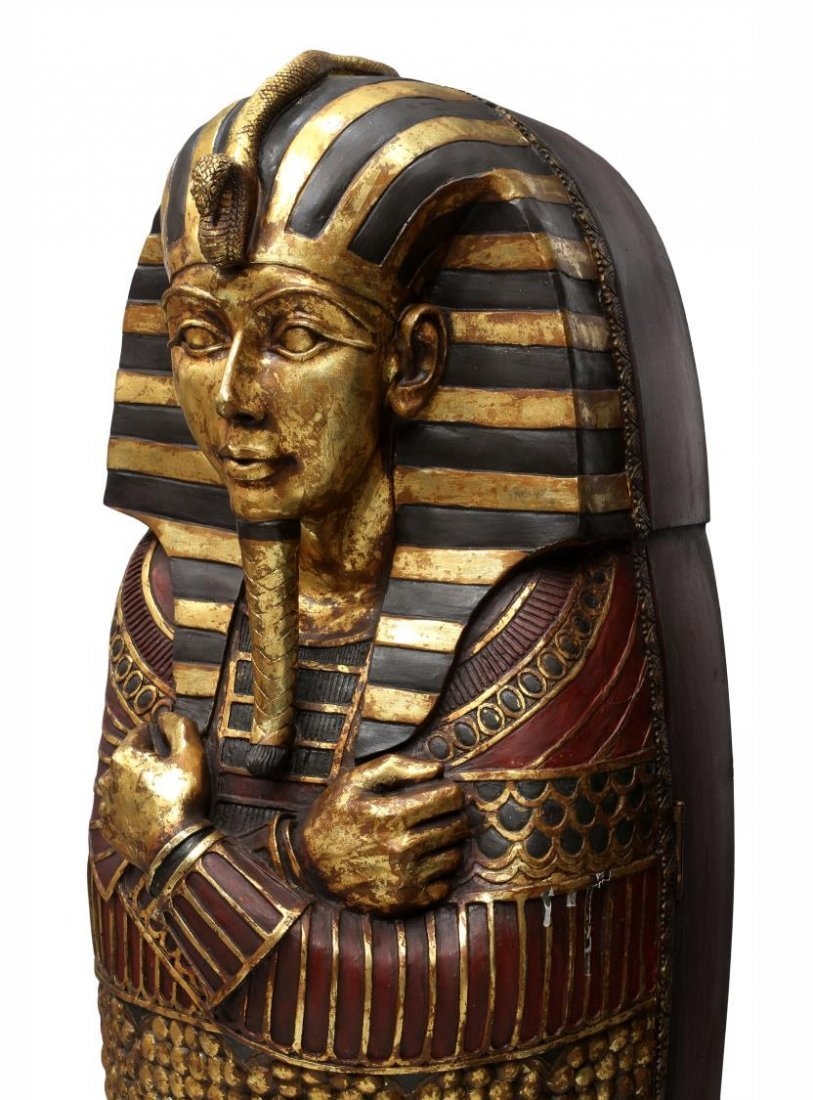 "KING TUT EGYPTIAN SARCOPHAGUS CABINET, 75""H - 4"