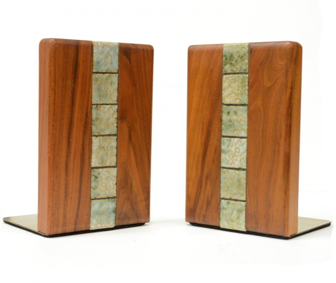 (2) AMERICAN MID-CENTURY MODERN MARTZ BOOKENDS