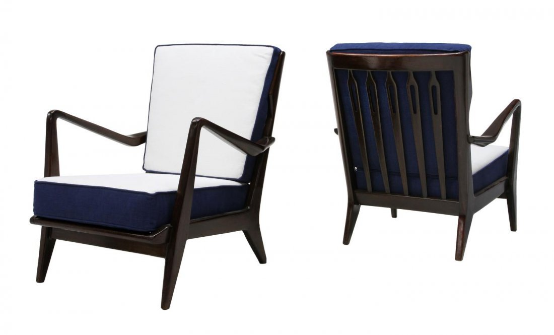 (2) GIO PONTI 516 LOUNGE CHAIRS & CERTIFICATE