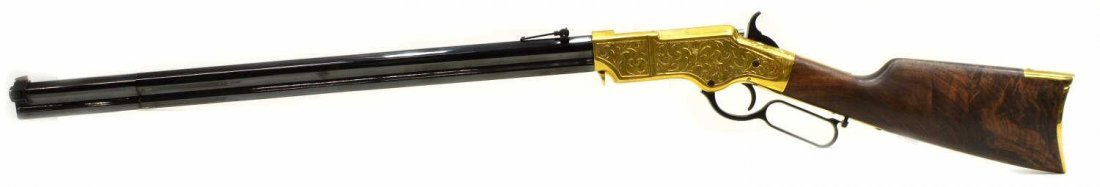 HENRY H011D ORIGINAL DELUXE ENGRAVED 44-40 RIFLE - 2