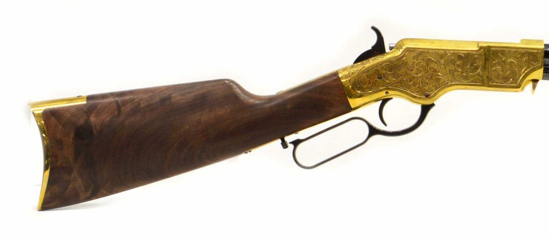 HENRY H011D ORIGINAL DELUXE ENGRAVED 44-40 RIFLE - 6