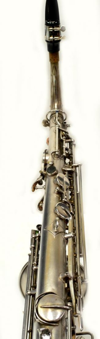 CASED FRANK HOLTON COMPANY SILVERPLATE SAXOPHONE - 7