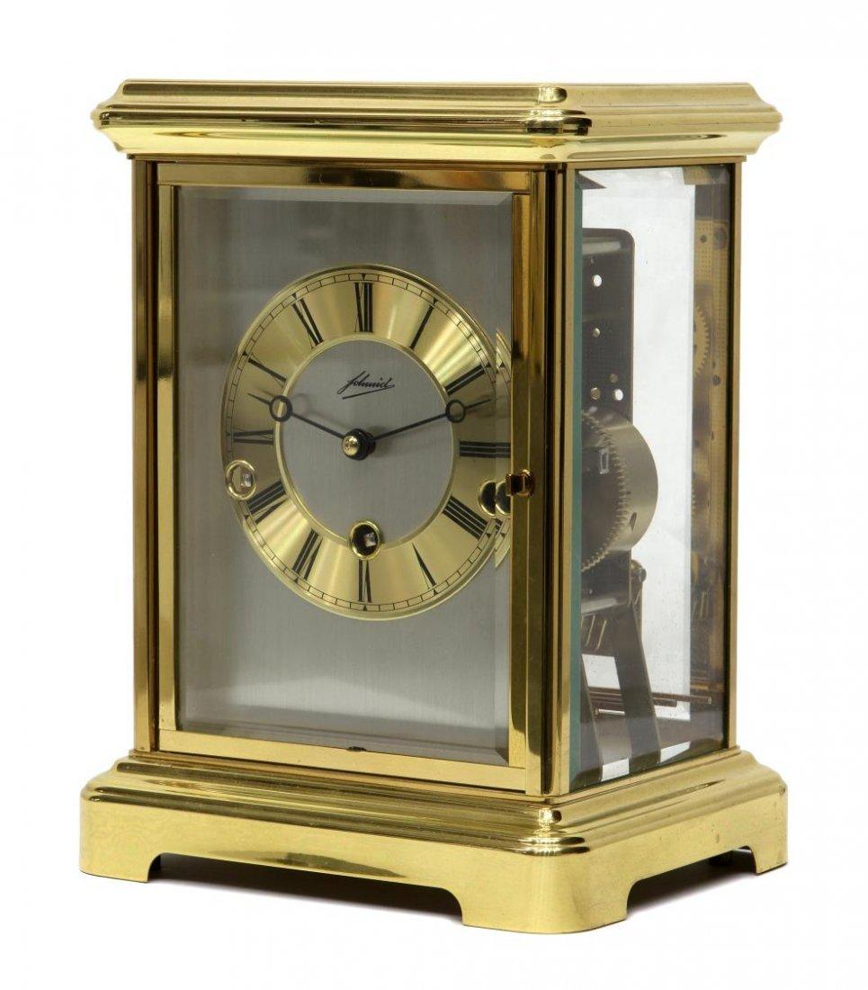 german johmid brass u0026 glass mantle clock - Mantle Clock