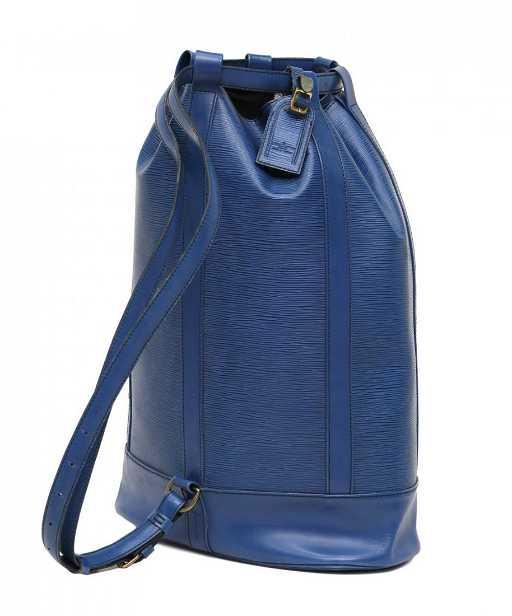 4b780e7f12aa LOUIS VUITTON RANDONNEE BLUE EPI BACKPACK BAG