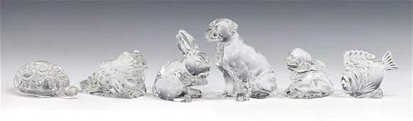(6) WATERFORD ART CRYSTAL ANIMAL FIGURES