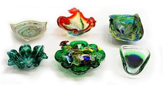 COLLECTION OF VINTAGE MURANO  ART GLASS BOWLS