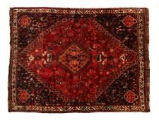PERSIAN SHIRAZ HAND WOVEN WOOL RUG 72l x 61w