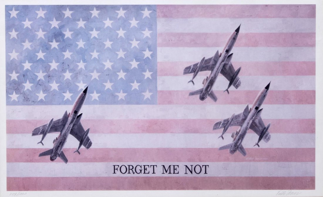 KEITH FERRIS LIMITED AIR FORCE & FLAG PRINT