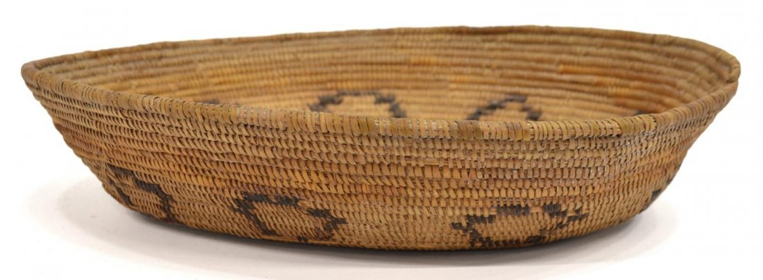 MISSION INDIANS HAND WOVEN BASKET