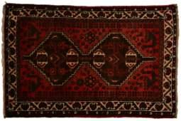 PERSIAN SHIRAZ HAND WOVEN WOOL RUG 42 x 3