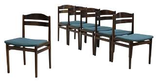 (6) DANISH MID-CENTURY ROSEWOOD DINING SIDE CHAIRS