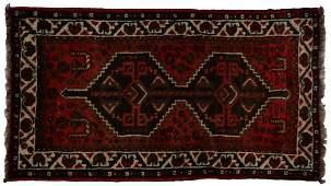 PERSIAN SHIRAZ HAND WOVEN WOOL RUG 42 x 28