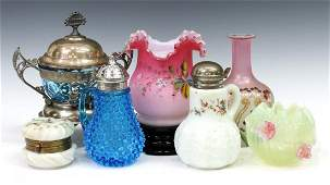 (7) COLLECTION VICTORIAN & VINTAGE GLASS TABLEWEAR