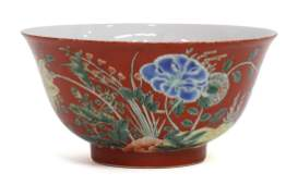 CHINESE FAMILLE ROSE PORCELAIN BOWL, 19TH C.