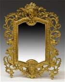 FRENCH LOUIS XV STYLE DORE BRONZE TABLE MIRROR