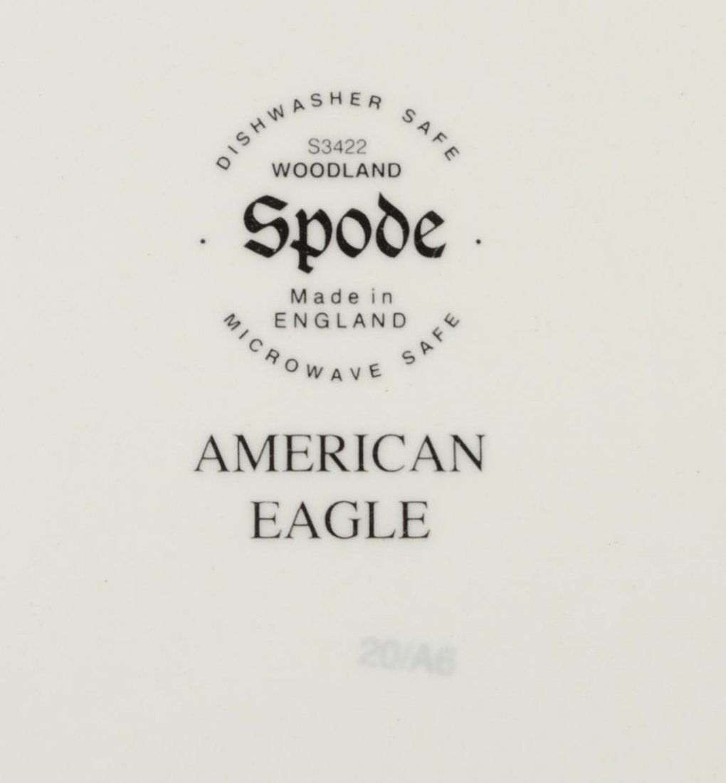 "(50) SPODE ""WOODLAND AMERICAND EAGLE SERVICE - 5"