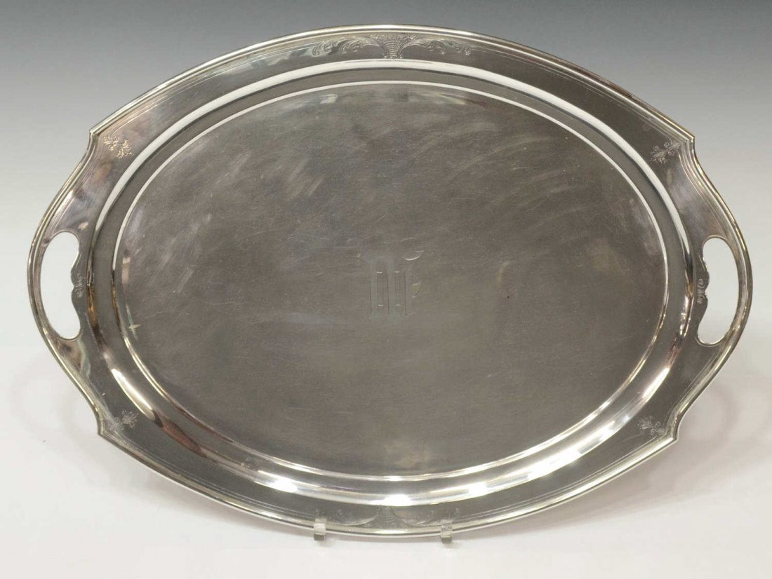 INTERNATIONAL STERLING SILVER SERVICE TRAY