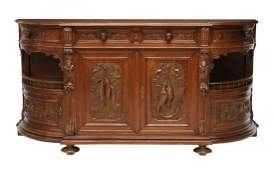 ITALIAN RELIEF CARVED GAME ANIMAL SIDEBOARD