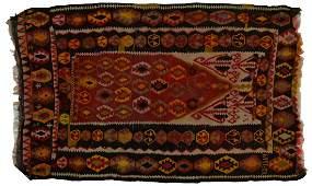 PERSIAN KILIM HAND WOVEN WOOL RUG 51 x 39