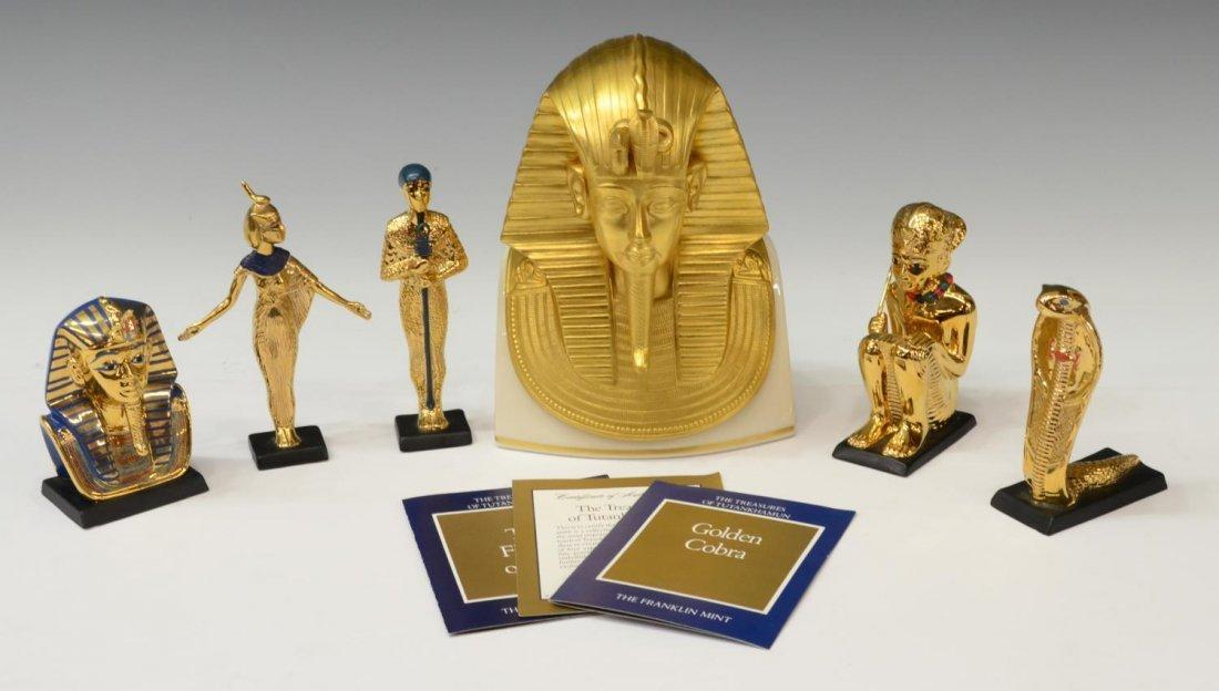 (6)EGYPTIAN KING TUT FIGURES, LENOX, FRANKLIN MINT
