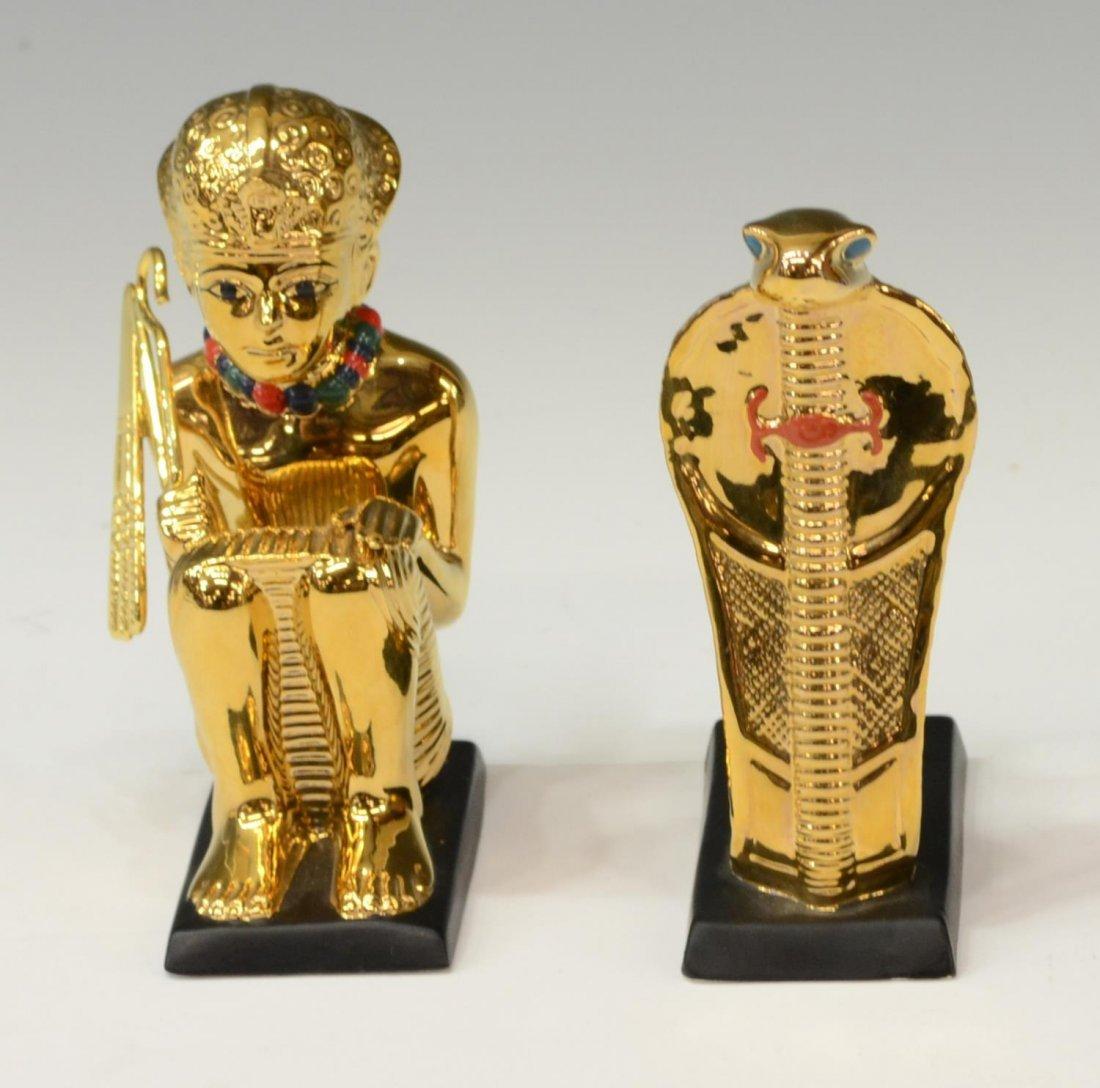 (6)EGYPTIAN KING TUT FIGURES, LENOX, FRANKLIN MINT - 4