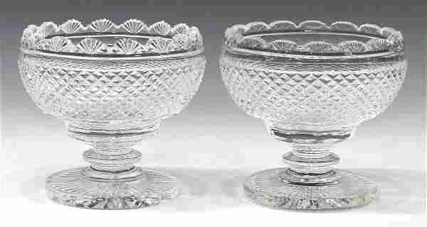 (2) WATERFORD CUT CRYSTAL PEDESTAL COMPOTES