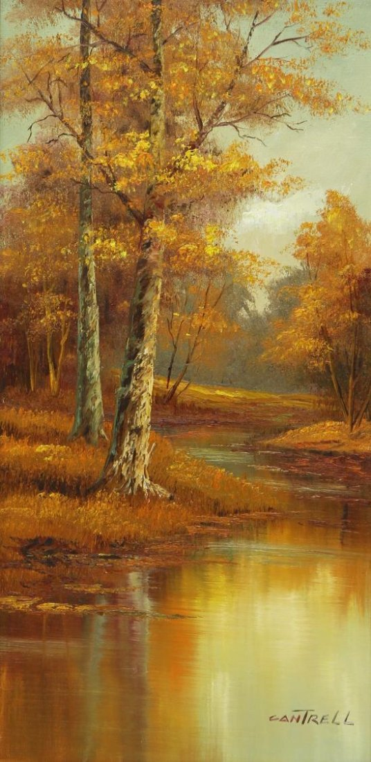 (2) PHILLIP CANTRELL (b. 1922), LANDSCAPE PAINTING - 2