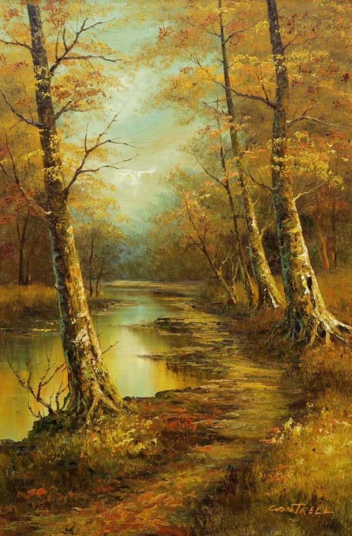 (2) PHILLIP CANTRELL (b. 1922), LANDSCAPE PAINTING - 6