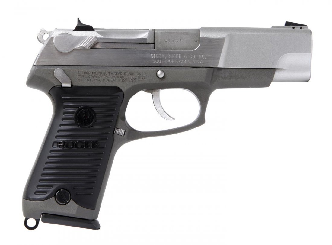 RUGER P90 STAINLESS .45ACP PISTOL - 4