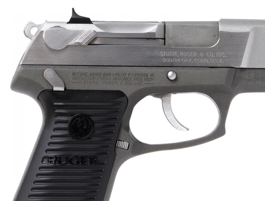 RUGER P90 STAINLESS .45ACP PISTOL - 5