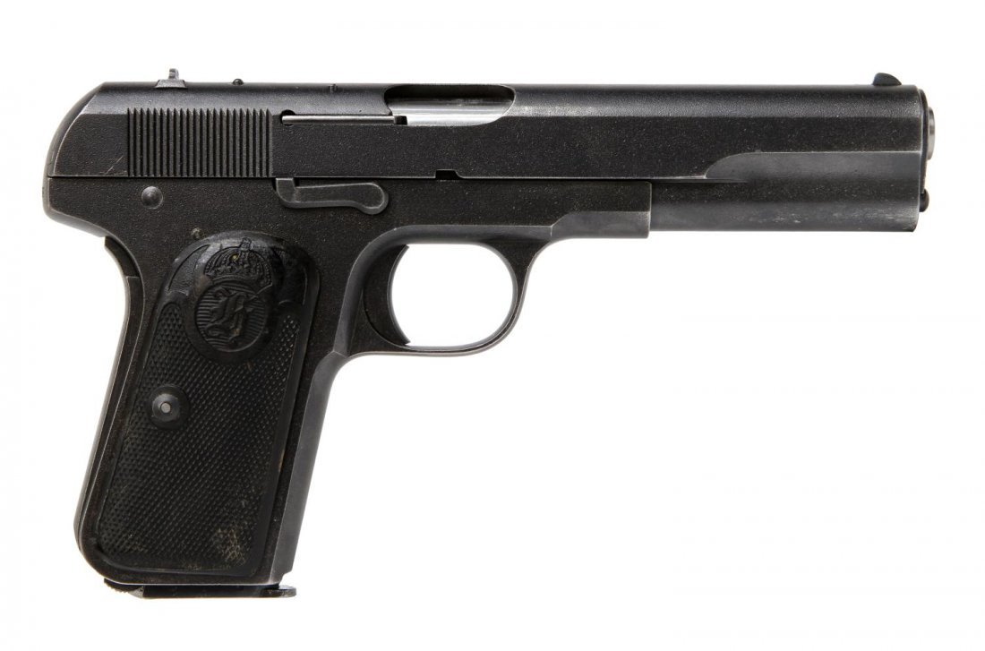 SWEDISH HUSQVARNA .380 1907 BROWNING SYSTEM PISTOL - 4