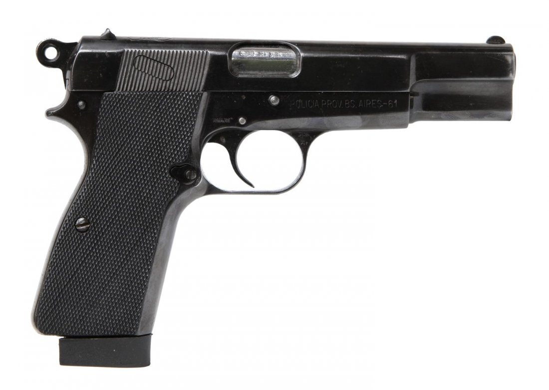 FN BROWNING HI-POWER PISTOL, ARGENTINE POLICE - 3