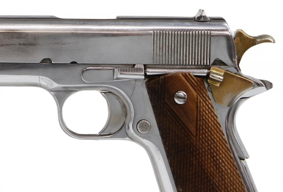 CHROME PLATED PISTOL, COLT 1911 .45 STYLE, - 2