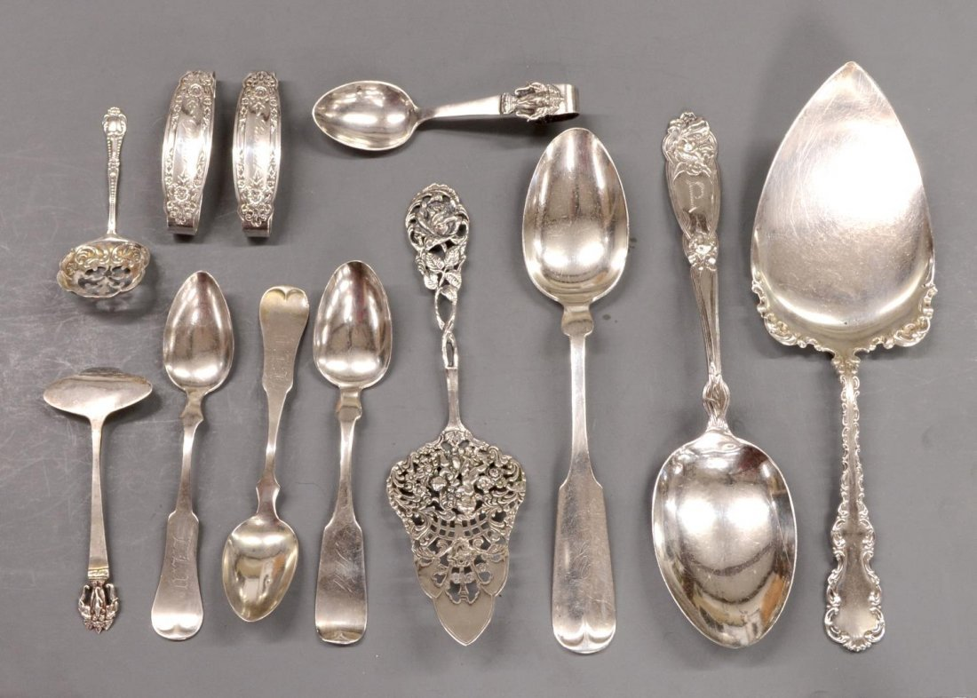 (12) GROUP STERLING SILVER FLATWARE SERVICE ITEMS