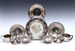 (9) COLLECTION OF STERLING SILVER TABLE ARTICLES