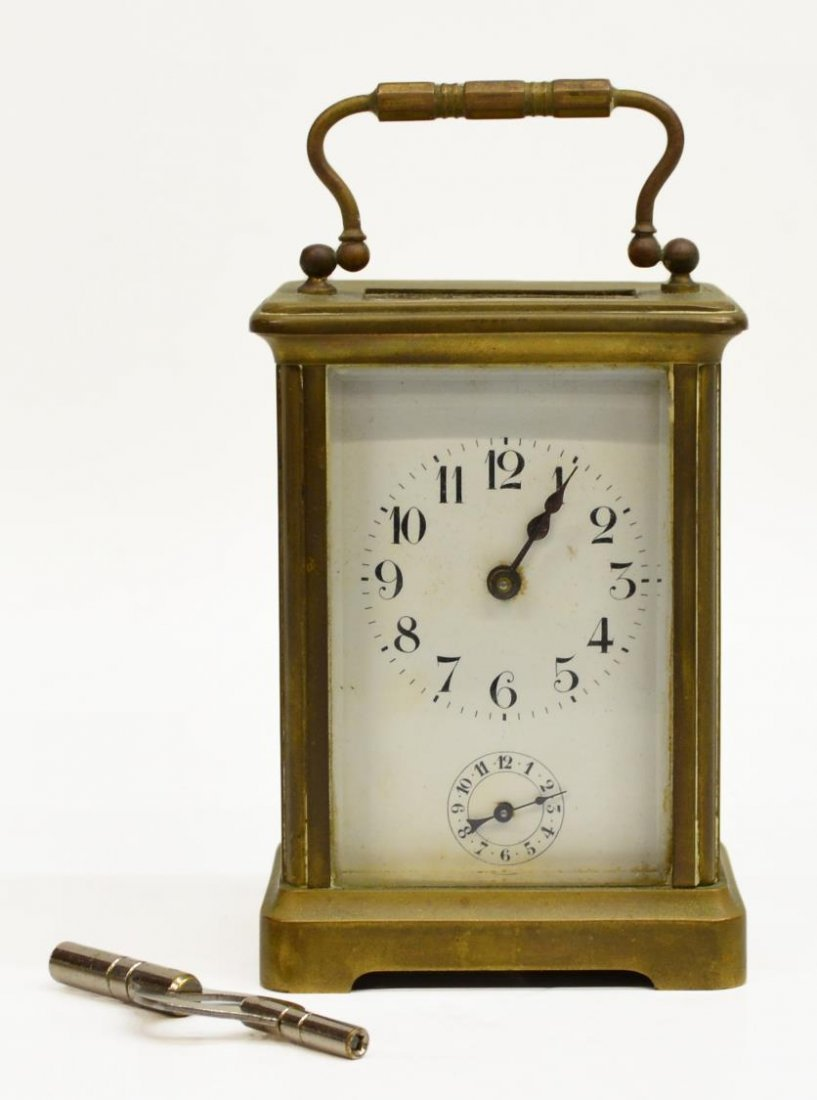 ANTIQUE FRENCH CARRIAGE CLOCK SECONDARY DIAL